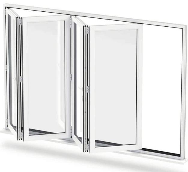 Bi-fold Window Putih