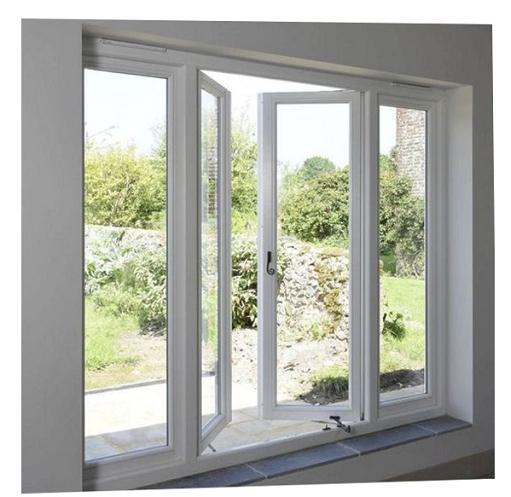 Casement Window Putih Buka Samping